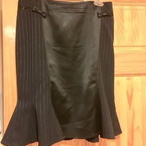 Nanette Lepore Black Ruffle Hem Skirt W/ Bows